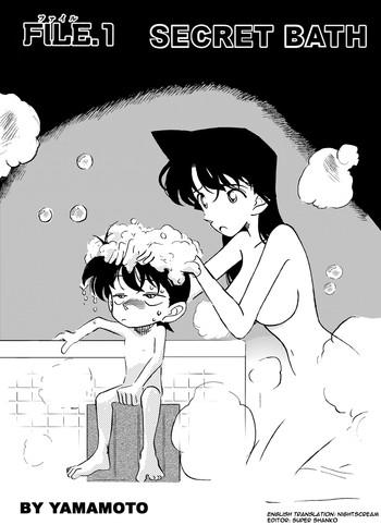 Kashima The Secret Bath- Detective conan hentai Cum Swallowing